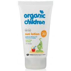Organisks saules aizsargkrēms bērniem ar SPF30, bez smaržas GREEN PEOPLE, 150 ml