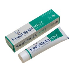 Peppermint Toothpaste with Fluoride KINGFISHER, 100 ml