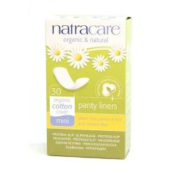Organic Cotton Panty Liners Mini NATRACARE, 30 pcs