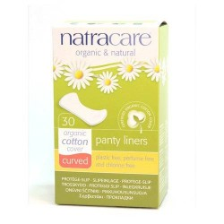 Organic Cotton Panty Liners Curved NATRACARE, 30 pcs.