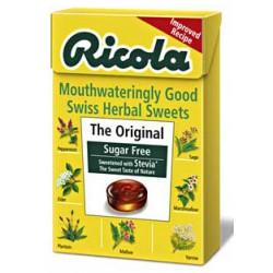 Oriģinālās šveiciešu augu konfektes bez cukura RICOLA, 45 g