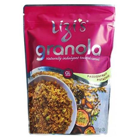 Granola su pasifloromis ir pistacijomis LIZI'S, 400 g