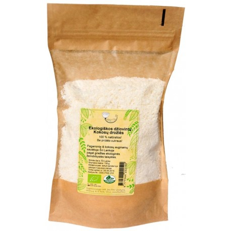 Ekologiškos kokosų drožlės AMRITA, 150 g