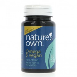 Veganiškas OMEGA 3 VEGAN NATURE'S OWN, 60 tabl.