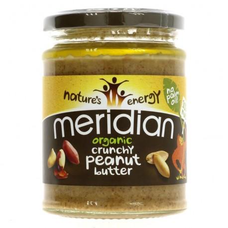 Žemės riešutų sviestas be druskos Crunchy MERIDIAN, 280 g