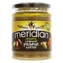 """Ekologiškas žemės riešutų sviestas """"Crunchy"""" MERIDIAN, 280 g"""