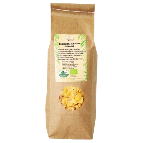 Ekologiški kukurūzų dribsniai AMRITA, 150 g
