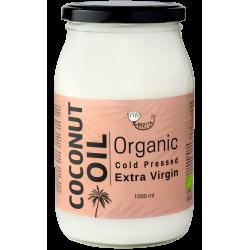 Organiska aukstā spieduma kokosriekstu eļļa AMRITA, 900 ml