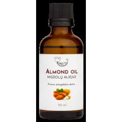 Migdolų aliejus (tyras šalto spaudimo) AMRITA, 50 ml