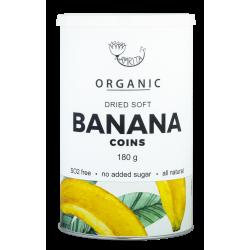 Ekologiški džiovinti minkšti bananų gabaliukai AMRITA, 180 g