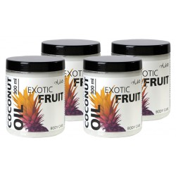 """4 for the price of 2! Coconut Oil """"Exotic fruit"""" AUKSO, 300 ml"""