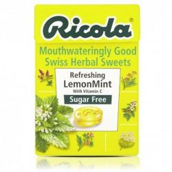Ledinukai su vaistažolėmis, citrinos ir mėtų skonio be cukraus RICOLA,45g