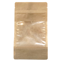 Paper bag with window and string closure 110x187mm, 1 pc.