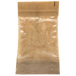 Paper bag with window and string closure 131x224mm, 1 pc.
