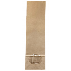 Paper bags with rectangular bottom 85x280x50mm, 1 pc.