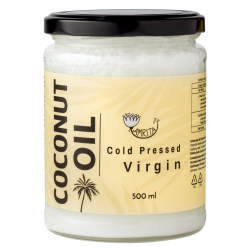 Unrefined Cold-Pressed Coconut Oil AMRITA, 500 ml