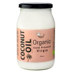 Organiska nerafinēts aukstā spieduma kokosriekstu eļļa AMRITA, 900 ml