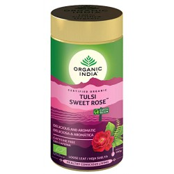 """Ekologiška arbata """"Tulsi Sweet Rose"""" ORGANIC INDIA, 100 g"""