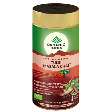 "Ekologiška arbata ""Tulsi Masala Chai"" ORGANIC INDIA, 100 g"