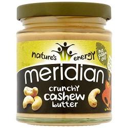 """Anakardžių sviestas """"Crunchy"""" MERIDIAN, 170 g"""
