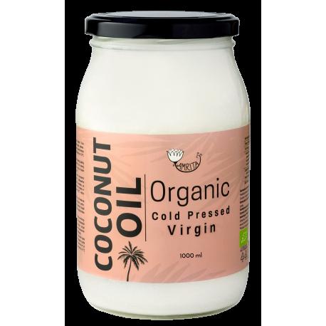 Ekologiškas šalto spaudimo kokosų aliejus AMRITA, 1 l