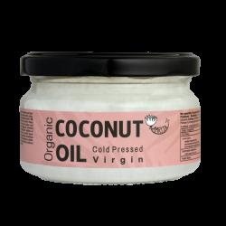 Ekologiškas šalto spaudimo kokosų aliejus AMRITA, 200 ml