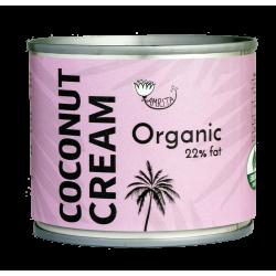 Ekoloģisks kokosriekstu saldais krēmjums 22% tauki AMRITA, 200 ml