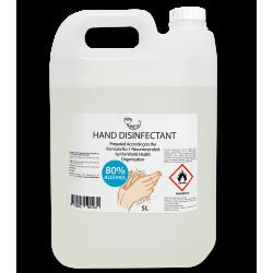 Rankų dezinfekantas pagamintas pagal PSO rekomenduojamą formulę nr. 1 AMRITA, 5 l