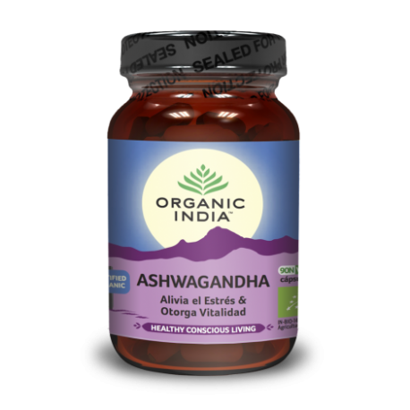 """Ekologiškas maisto papildas """"Ashwagandha"""" ORGANIC INDIA, 60 kaps."""