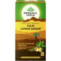 "Ekoloģiska tēja ""Tulsi Lemon Ginger"" ORGANIC INDIA, 25 maisiņi."