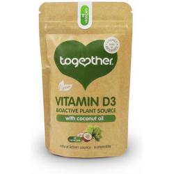 Augalinis Vitaminas D3 su kokosų aliejumi TOGETHER, 30 kaps.