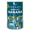 Ekologiški džiovinti minkšti bananų gabaliukai AMRITA, 400 g