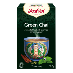 "Eko. zāļu un garšvielu maisījums ar zaļo tēju ""Green Chai"" YOGI TEA,30.6g"