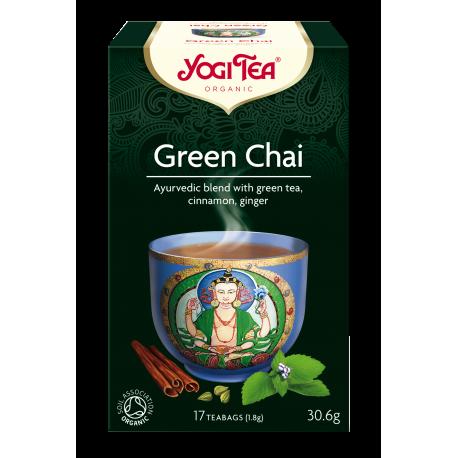 """Ekologiškas žolelių ir prieskonių mišinys """"Green Chai"""" YOGI TEA, 30.6 g"""