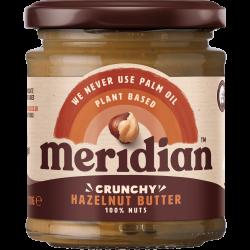 """Lazdynų riešutų kremas """"Crunchy"""" MERIDIAN, 170 g"""