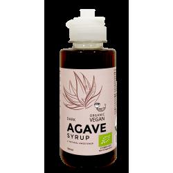 Organisks NEAPSTRĀDĀTS tumšais agaves sīrups AMRITA, 150 ml