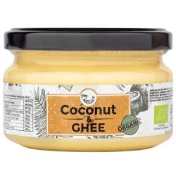 Ekologiškas kokosų aliejaus ir ghi sviesto mišinys AMRITA, 200 ml