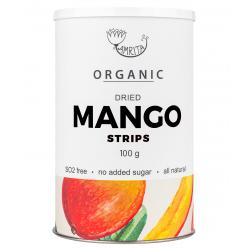 Ekologiškos džiovintų mangų juostelės AMRITA, 100 g
