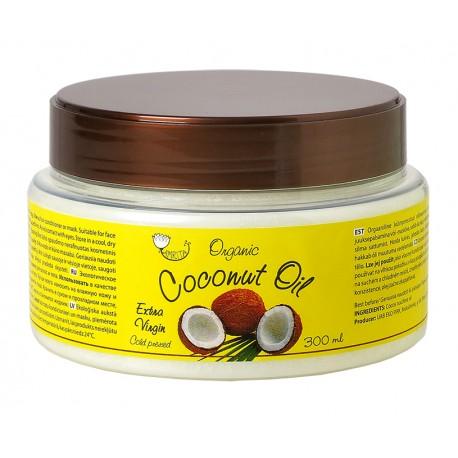 Ekologiškas tyras kosmetinis kokosų aliejus AMRITA, 300 ml