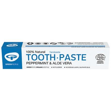 Ekologiška pipirmėčių dantų pasta be fluoro GREEN PEOPLE, 50 ml
